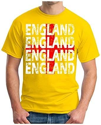 OM3 – ENGLAND – T-Shirt EM 2016 FRANKREICH FRANCE FUSSBALL FANSHIRT SOCCER CUP SPORT TRIKOT EUROPAMEISTER, S – 5XL