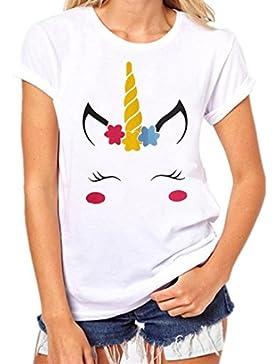 ❤️ Las Mujeres Que Imprimen Camiseta Camisa Manga Corta Camiseta Blusa Traje de Verano Absolute