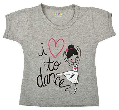 Kuchipoo Girl's T Shirt , Pack of 5 (Multicolor, KUC-TSHRT-103, 5-6 Years)