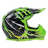 YSH Motocross Motorcycles Helmets Bike Dirt Racing Off-road Helmet Motorcycle Professional Protective Gear,Green-L(58-59) cm