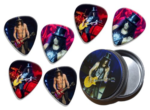 Slash (WK) 6 X Live Performance Guitarra Picks in Tin