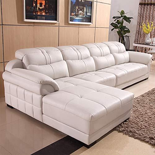 Divano angolare,Divano ad angolo grande multifunzionale in tessuto Divano a sinistra Mano destra Mobili soggiorno Divano - Angolo - Divano letto - Mobile contenitore - Ecopelle / Tessuto Bianco,White