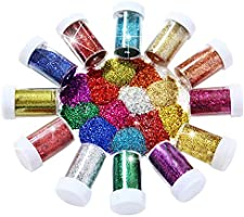 Joyclub Arts and Crafts Glitter Shaker Jars, Glitter Powder for Slime, Scrap-Booking, Body, Face, Party Invitations,...