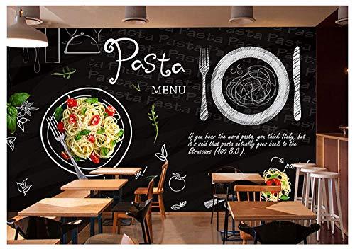 Benutzerdefinierte 3d wandbild tafel graffiti pizza thema tapete westlichen restaurant café tapete wandbild @ 400 * 280 cm