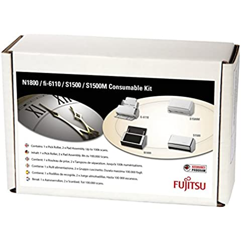 Fujitsu Consumable Kit S1500 - Kit de consumibles para impresora Fujitsu (importado)