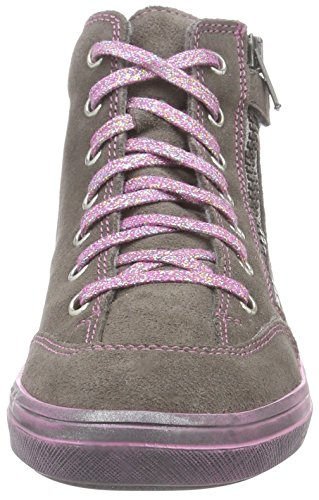 Richter Kinderschuhe Ilva, Baskets hautes fille Gris - Grau (pebble/silver  6611)