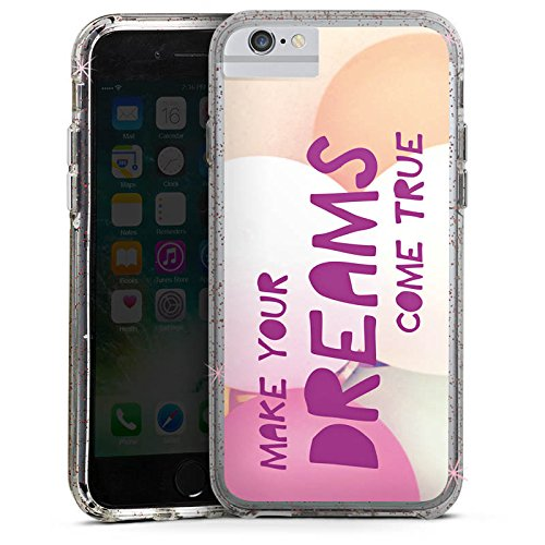 Apple iPhone 8 Bumper Hülle Bumper Case Glitzer Hülle Motivation Sprüche Sayings Bumper Case Glitzer rose gold