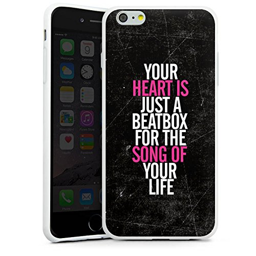 Apple iPhone X Silikon Hülle Case Schutzhülle Herz Musik Liebe Silikon Case weiß