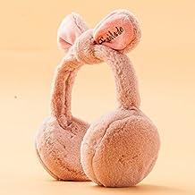 Fiesta de cumpleaños regalo de San Valentín Navidad El otoño y el invierno cálido femenino Estudiante lindo orejas de conejo más gruesas orejeras orejeras se pueden plegar,pasta de judías rojas fiestas de s de