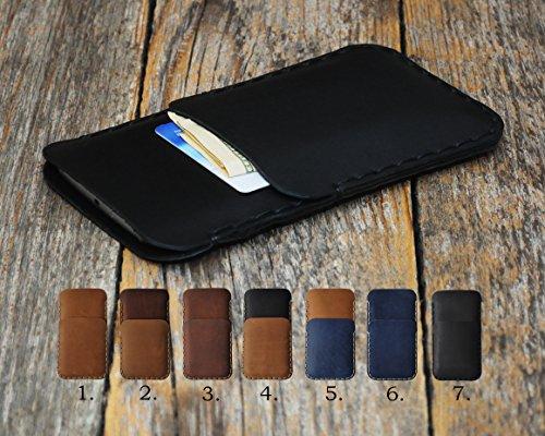 Sony Xperia Leder Case Etui Hülle Tasche Cover personifiziert durch Prägung mit Ihrem Wunschnamen
