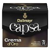 Dallmayr Capsa Crema d'Oro, Nespresso Kompatibel Kapsel, Kaffeekapsel, Röstkaffee, Kaffee, 100 Kapseln