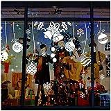 Tuopuda® Pegatina de Pared Navidad Cascabel Estilo extraíble Blancas Campanas de la Navidad Pegatinas de Ventana de la Puerta Stickcers Pegatinas de Pared para el Año Nuevo y Navida (campana y pelota)