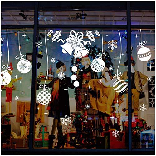 Tuopuda® Weihnachtssticker Frohe Weihnachten Aufkleber Jingle Bells Wandaufkleber für Home Shop Fenster Dekorative Aufkleber (Jingle Bells und ball)