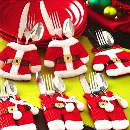 6 Stücke Weihnachten Besteck Halter Taschen Dinner Decor Messer Gabeln Tasche Weihnachten Tabletop Dekoration für Party Restaurant