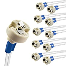 DiCUNO Bin-pin base de 10 Pièces, Connecteur G4, GU3.5, G6.35, GY6.35, GX5.3, GU5.3, MR16, GZ4 MR11, Halogène Incandescent LED douille de lampe, Base en Céramique