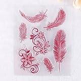 Zhuotop Grand tampon en caoutchouc transparent motif terre colorée pour scrapbooking et décoration à faire soi-même