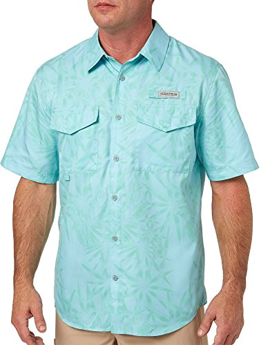 Field & Stream Herren Short Sleeve Latitude Angeln Shirt, Herren, Trop Floral PRT Blue, Small -