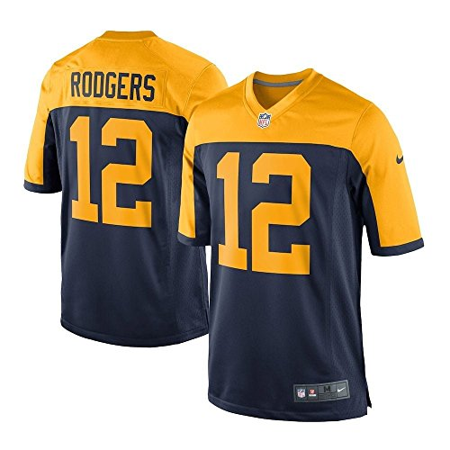 Nike GBP NFL Game Alt Jrsy T-Shirt, Herren, Mehrfarbig (College Navy/Rodgers Aaron) Rodgers Jersey