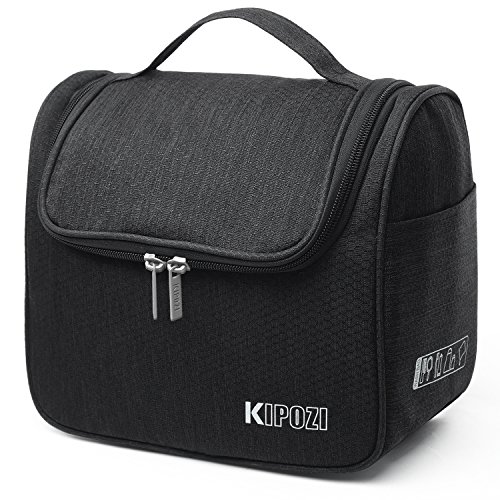 KIPOZI Travel Hanging Toiletry Bag Make up Wash Bags Toiletries Organiser Shaving Bag with Extra Hook for Men and Women Ladies,Water Resistant