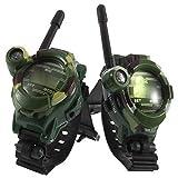 RedDhong 1 Pair Children Camouflage Walkie Talkie 7 in 1 Dgital Children Parent Watches Intercom Toy Good Gift for Kids