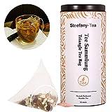 Tee Sammlung, Tee-Pyramiden, Tee Verkostungs Sortiment, 5 Verschiedene Verkostung und Wirkung für Sie, 10 Tee Pyramidenbeutel, 1er Pack