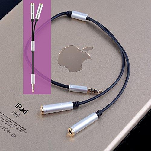 Preisvergleich Produktbild Stereo Audio Klinke Y Splitter Kabel 3.5mm Stecker auf 2x 3,5mm Buchse für Smartphones, Tablets, MP3-Player, Apple, Samsung, HTC, LG, Sony, Nokia, Huawei und mehr Audiogerät