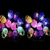 Faironly - Anillos de Goma con luz LED Intermitente Colorida para Fiestas, Regalos de Eventos, Raves, conciertos y Regalos, Color al Azar
