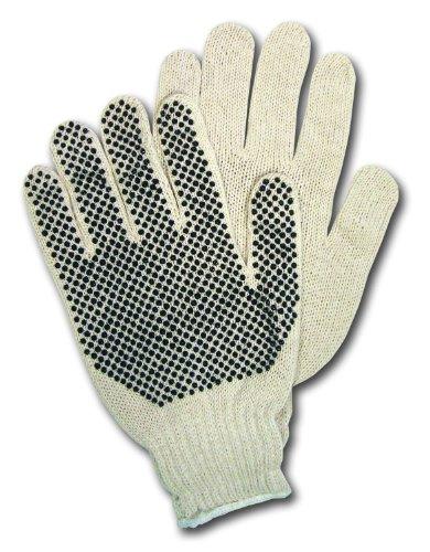 MCR Sécurité 9650lm Regular Jauge de poids Coton/Polyester 7 cordes en tricot Gants multi-usage avec Blanc et Ourlets Manchette, Naturel, Medium, 1 paire par MCR de sécurité