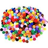 Blulu Pompons für Handwerkmachen und Hobbybedarf, 500 Stück 0,5 Zoll, vielfärbig