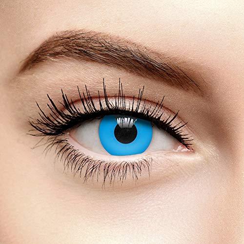 EDIT 90 Tage UV Farbige Kontaktlinsen Ohne Stärke (i-Glow Blau)
