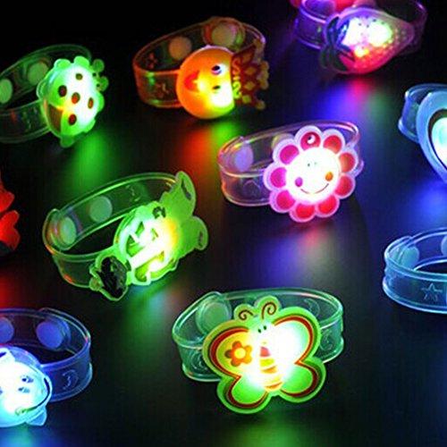 SUNERLORY Leuchtende Armband, einstellbare LED-Armband Kinder Spielzeug Blinklicht Party Geschenk für Kinder Kind