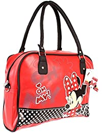 Red Minnie Mouse Official  Faux  Leather look Handbag Shoulder Bag (cd. 4260 9fc77e0455db9