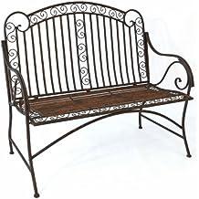 Mediterrane Sitzbank *Pablo* Gartenbank Metall Bank Garten Rostoptik    B117cm