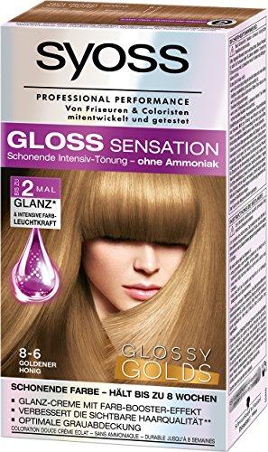 Syoss Gloss Sensation Intensiv-Tönung 8-6 Goldener Honig Glossy Golds Stufe 3, 3er Pack (3 x 115 ml)