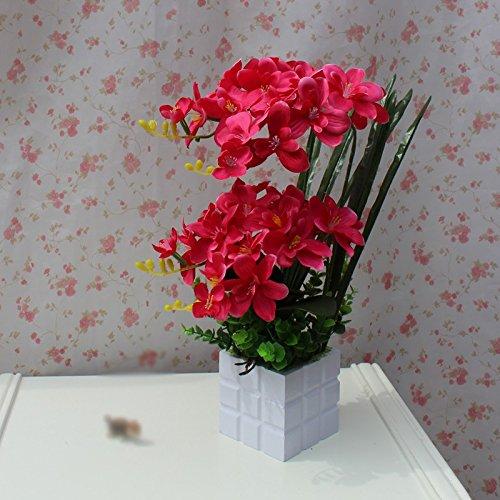 LIXIAOXIN Butterfly Orchid Topfpflanzen Dekoration False Simulation Rose Rot