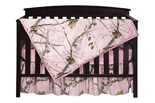 Carstens Real Tree AP Camo 3-Piece Crib Sheet Set, Pink by Carstens