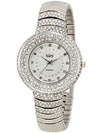 Burgi Reloj de Diamond Accent Crystal Fashion para mujer