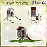 Kinderspielhaus mit Fenstern, Leiter, Rutsche (Wendi Toys) - 6