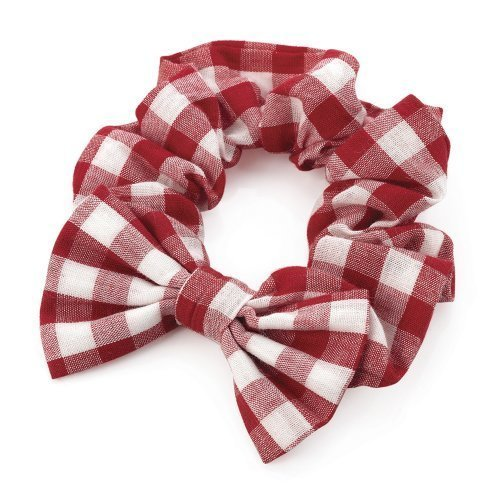 Girls Red Gingham Bow Hair Scrunchie AJ28154 by I Heart Fashion ()