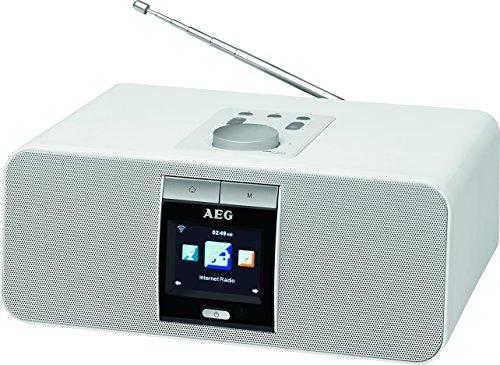 AEG IR 4468 BT Internet-Stereoradio Bluetooth USB-Anschluss PLL-RDS-UKW Radio Fernbedienung Weckfunktion weiß (Open-tv-antenne)