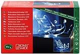 Konstsmide 6101-003 LED Acryl Schlitten H: 22cm / B: 30cm / 16 kalt weiße Dioden / 24V Innentrafo / transparentes Kabel