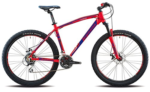 "'Legnano vélo 625 Lavaredo 27,5 ""Disque 21 V taille 45 Rouge (VTT ammortizzate)/Bicycle 625 Lavaredo 27,5 disc 21S Size 45 Red (VTT Front Suspension)"