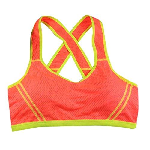 Reaso Femmes Hauts, Yoga Aptitude Étendue Des sports Gilet Orange