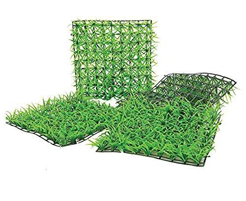 12 Mattonelle erba sintetica 25 x 25 per decorazione e arredo giardino balconi casa e vetrine E32