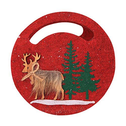 Strumpf Weihnachts Kostüm - Moonuy Tasche Weihnachten Süßigkeiten Tote Weihnachten Schneeflocke Non-Woven Multicolor Candy Bag Strumpf Xmas Tree Party Home Decor