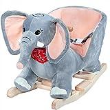 Eléphant à Bascule, Animal avec Ceinture de sécurité et Fonction sonore, Jeu de...