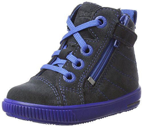 Superfit Baby Jungen Moppy Lauflernschuhe, Blau (Charcoal Kombi), 22 EU