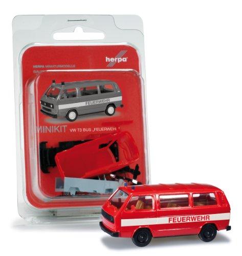 Herpa 12591 - Mini Kit para Bomberos VW T3
