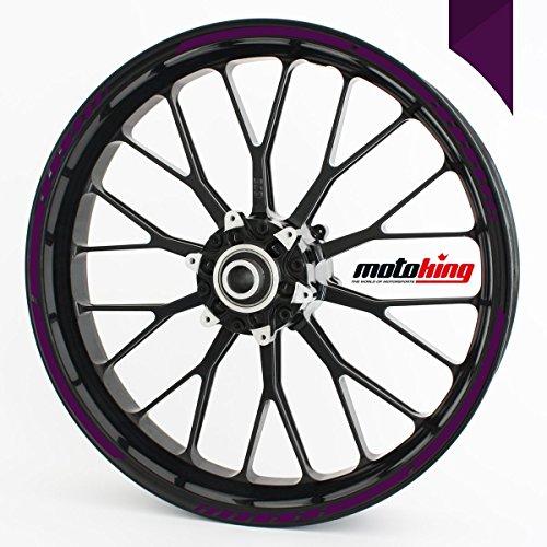 Felgenrandaufkleber GP im GP-Design passend für 17 Zoll und 16″ 18″ 19″ Felgen für Motorrad, Auto & mehr – Violett