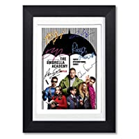 Mounted Gifts The Umbrella Academy Cast Signed Autograph Autographed A4 Poster Photo Print Picture TV Netflix Show Series Season Framed DVD Boxset Memorabilia Gift